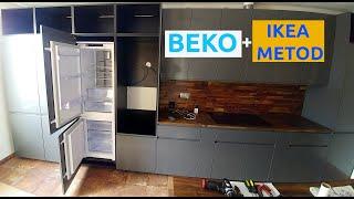 Beko BCNA275E4SN built-in Fridge Freezer IKEA METOD kitchen cabinet integrateion step-by-step guide.
