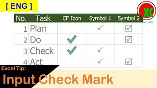[ENG] How to input Check Mark in Excel
