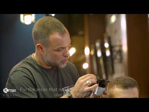 Мужская стрижка для редких волос с Kmaх. Демонстрирует барбер Yiannis Sakellarakis*.