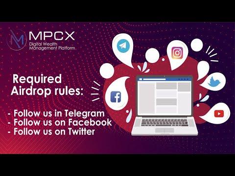 Ganhe U$5 Dólares no Airdrop Bot MPCX Platform !