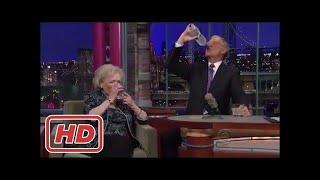 Betty White – Drinks Vodka & starts hugging – David Letterman