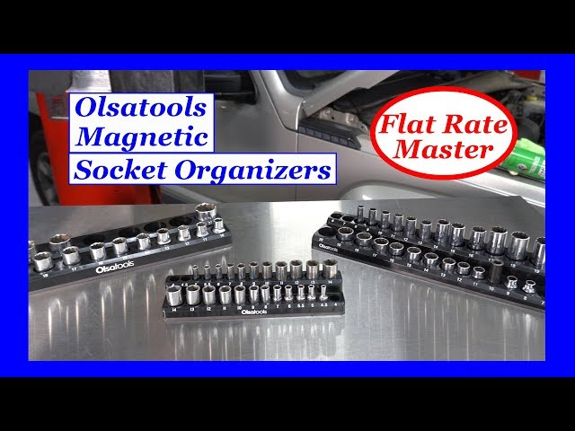 Youtube Video for Magnetic Socket Holder Marked With Socket Sizes by Flat Rate Master