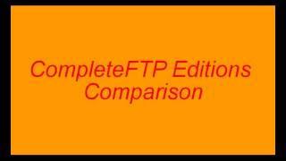 CompleteFTP video