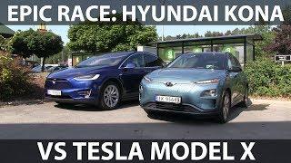 Race between Kona and Model X