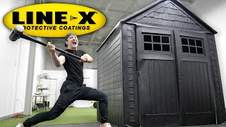 I SPRAYED AN ENTIRE HOUSE WITH LINE-X! (LINE-X HOUSE EXPERIMENT)