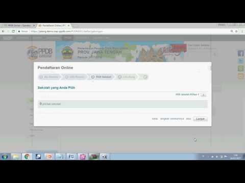 Video Video DEMO  Cara mendaftar PPDB Online smkn2sragen Tahun 2017/2018