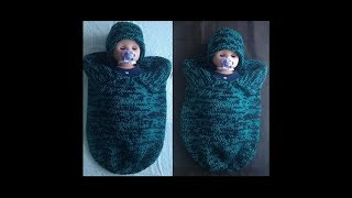 Knitted Baby Cocoon & Hat Set Pattern #126│by ThePatternFamily