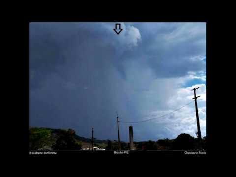 Temporal com nuvem Funil chegando em Bonito-PE (08/01/2018)