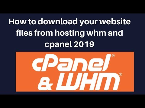 How to download your website files from hosting whm and cpanel 2019