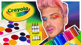 CRAYOLA MAKEUP TESTED! | Is it Joey Graceffa APPROVED? - Video Youtube