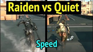 Raiden vs Quiet: Speed Comparison in Metal Gear Solid V: Phantom Pain (MGS5)