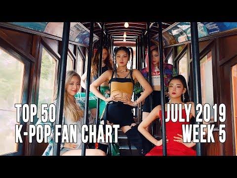 Top 50 K-Pop Songs Chart - July 2019 Week 5 Fan Chart