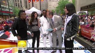 The Black Eyed Peas Interview   I Gotta Feeling @ Rockefeller Plaza, New York City