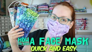 How to sew a reusable face mask - Quick and easy tutorial with Billette's Baubles