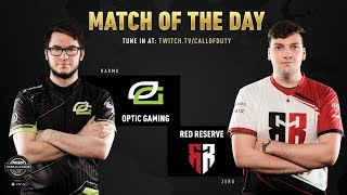 OpTic Gaming vs Red Reserve | CWL Pro League 2019 | Division A | Week 2 | Day 2