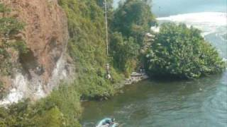 preview picture of video '[1/2] - Uganda - Bungee Jumping at Adrift, Jinja - September 4, 2009'