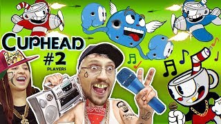 FGTEEV LEARN 2 RAP GAME! CUPHEAD & MUGMAN #2 Mommy Co-Op! 2 PLAYERS is Harder than1 (Gameplay Songs)