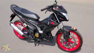 Honda Sonic 150i Matte Black - Customized - Walkaround