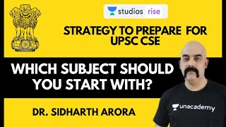 Which Subject should I start with? | Strategy to Prepare For UPSC CSE 2020-21 | Dr. Sidharth Arora