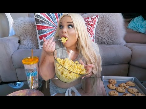 HOMEMADE MAC 'N CHEESE + COOKIES EATING SHOW W/ RECIPE!! (MUKBANG) | WATCH ME EAT