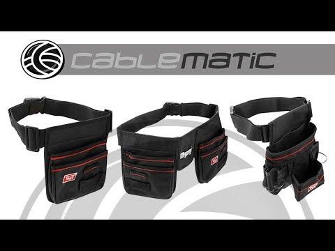 Cinturón para herramientas Portaherramientas con bolsa para clavos - distribuido por CABLEMATIC ®