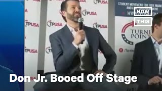 Donald Trump Jr. Booed Off Stage by Protesters   NowThis