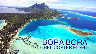 Bora Bora - Helicopter fly over island HD