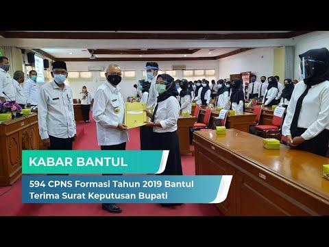 594 CPNS Formasi Tahun 2019 Terima SK Bupati | Kabar Bantul
