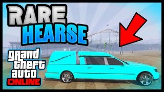 GTA 5 ONLINE: ALL SPAWN LOCATIONS FOR RARE ROMERO HEARSE (All Consoles) MODDED STORABLE FUNERAL CAR