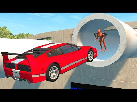 Beamng Drive Impossible Car Stunts #2
