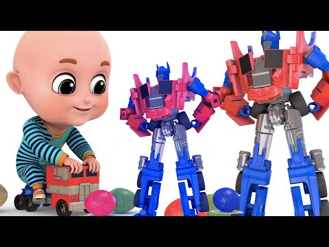 Surprise Eggs | Transformers Robot Truck Toy for Kids | Surprise Egg Videos from jugnu Kids