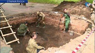 В Старой Руссе начались археологические работы на месте предполагаемой установки Стелы воинской славы