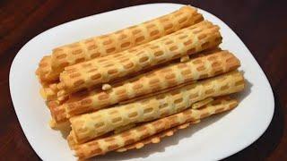 Вафельные трубочки - очень простой рецепт./Wafer rolls.