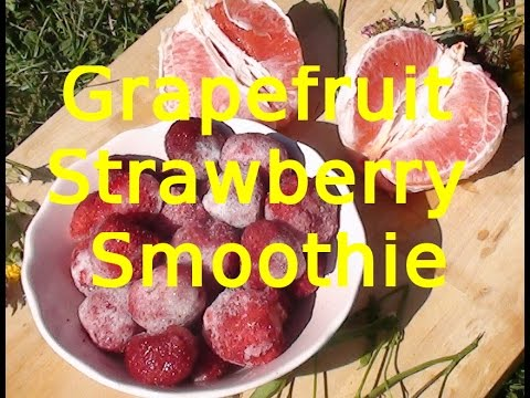 Grapefruit Strawberry Smoothie | Grapefruit Erdbeer Smoothie | VEGAN FATBURNER