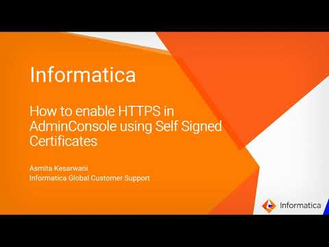 How to Enable HTTPS in the Admin Console using Self Signed ...
