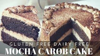 Gluten Free Dairy Free Mocha Carob Cake (Refined Sugar Free, Gum Free)