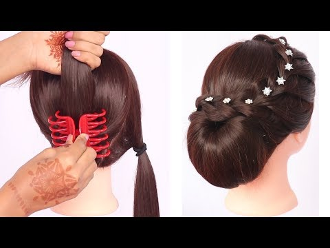 New Latest Trending Hairstyle With Clutcher Updo