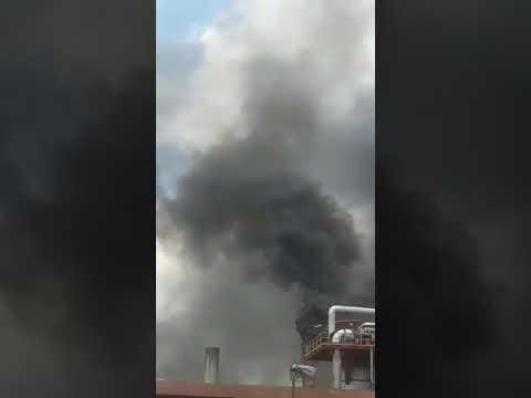 Hubo un incendio en la destilería