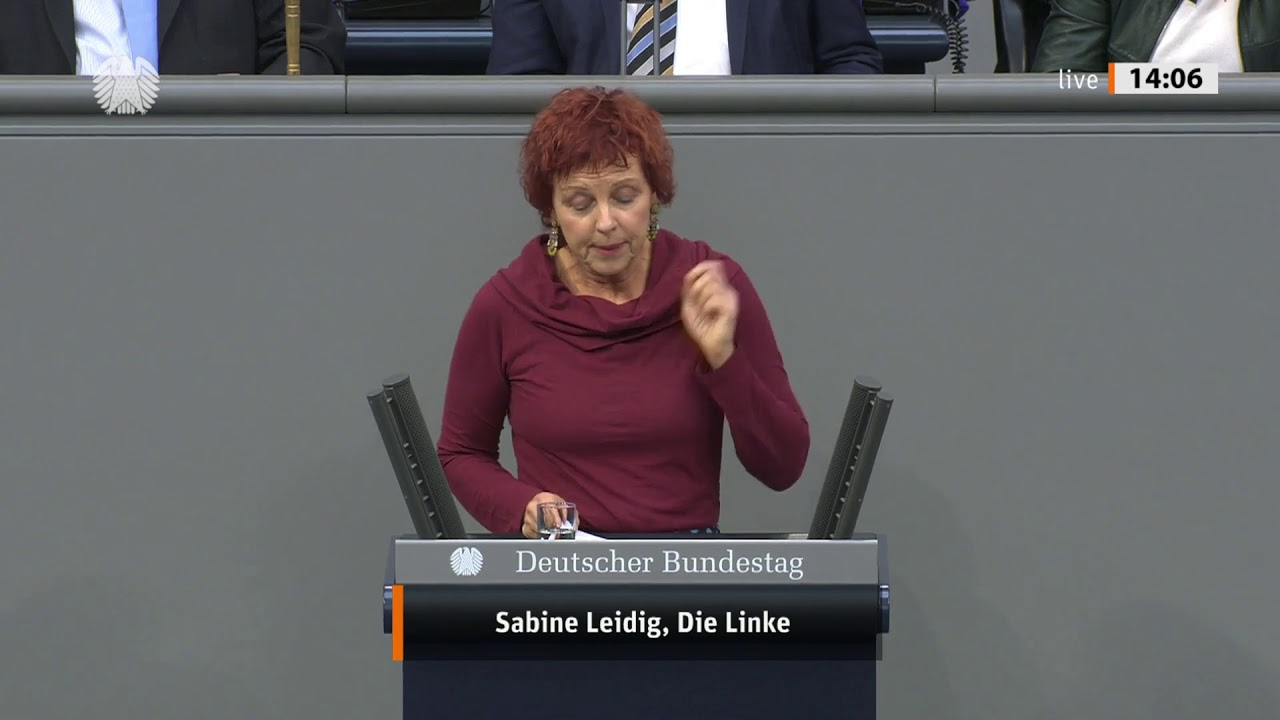 Rede von Sabine Leidig am 17. Oktober 2019 im Deutschen Bundestag zum Thema Unsere E-Mobilität heißt Zug und Straßenbahn