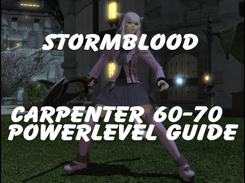 FFXIV Stormblood 60 70 Carpenter In Depth Leve Kit Power