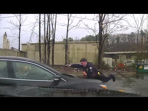 The Little Rock Police Department has released footage from an officer-involved shooting in which a 30-year-old man was killed which shows the officer on the hood of a car firing at least 15 times into the windshield. (March 8)