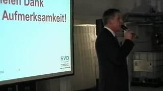 Abschluss des Symposiums durch Diessner Geschäftsführer Bernd Kanand