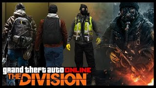 """GTA 5 Online """"THE DIVISION"""" THEMED FASHION FRIDAY! (Agents, Cleaners, Rikers & More)"""