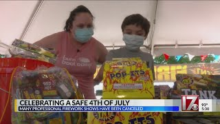 Personal firework safety stressed as many NC fireworks shows are canceled