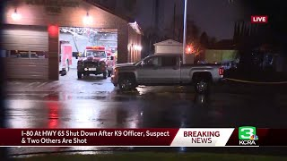 Suspect shot, killed by officers on Roseville highway