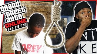 HE COMMITS SUICIDE MID MISSION!!! - GTA Online Heist Gameplay