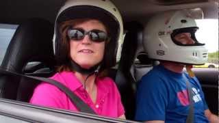 Mom co-piloting during 4th autocross run in Houston