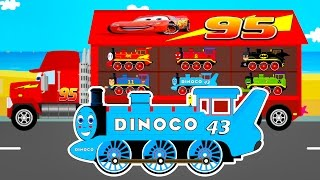 Color Mack Truck & Thomas Train Transportation in Cars Cartoon for Kids Numbers Video