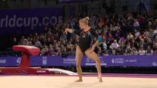 Elisabeth SEITZ   Floor   Glasgow World Cup 2016