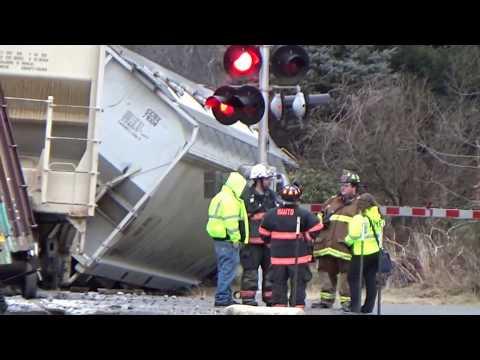 Train derailment caught on camera in Nesquehoning, PA